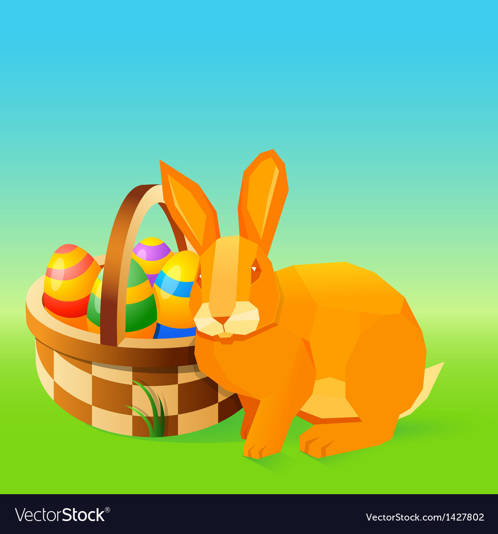 Easter bunny vector | Price: 1 Credit (USD $1)
