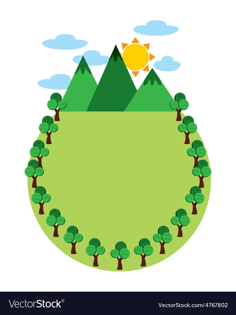 Eco landscape vector | Price: 1 Credit (USD $1)