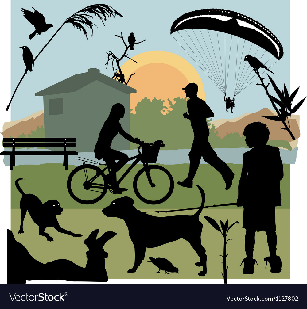 In the park vector | Price: 1 Credit (USD $1)