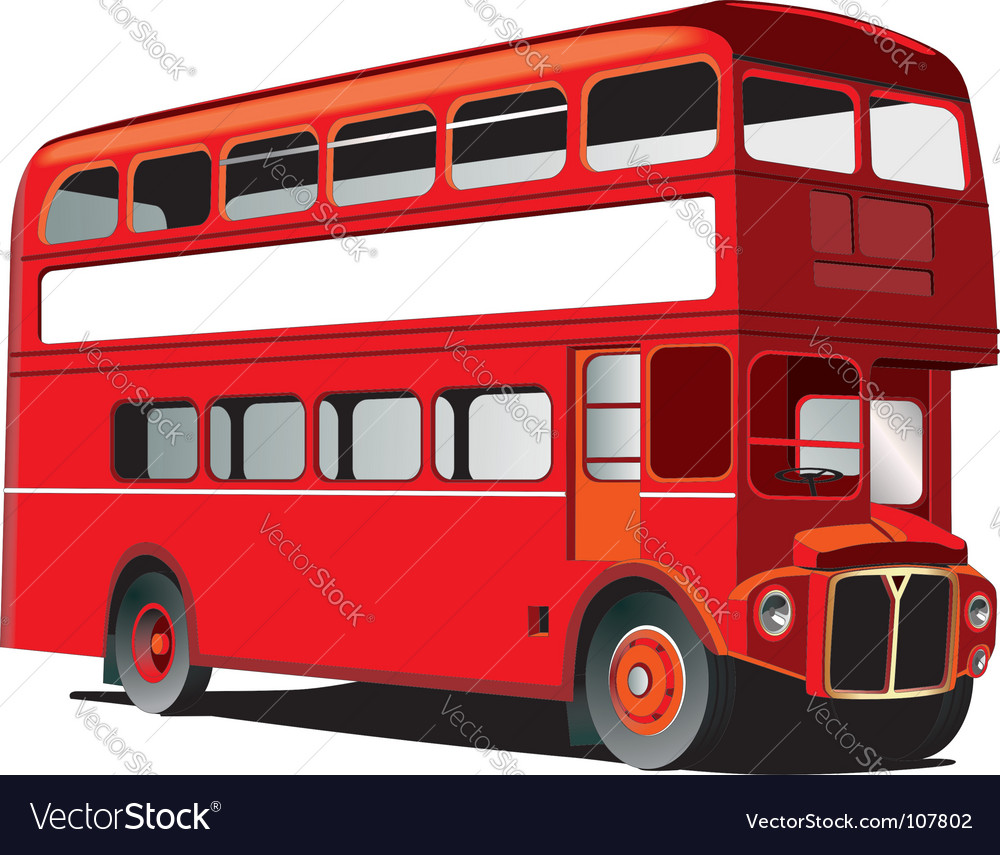 London double decker bus vector | Price: 1 Credit (USD $1)