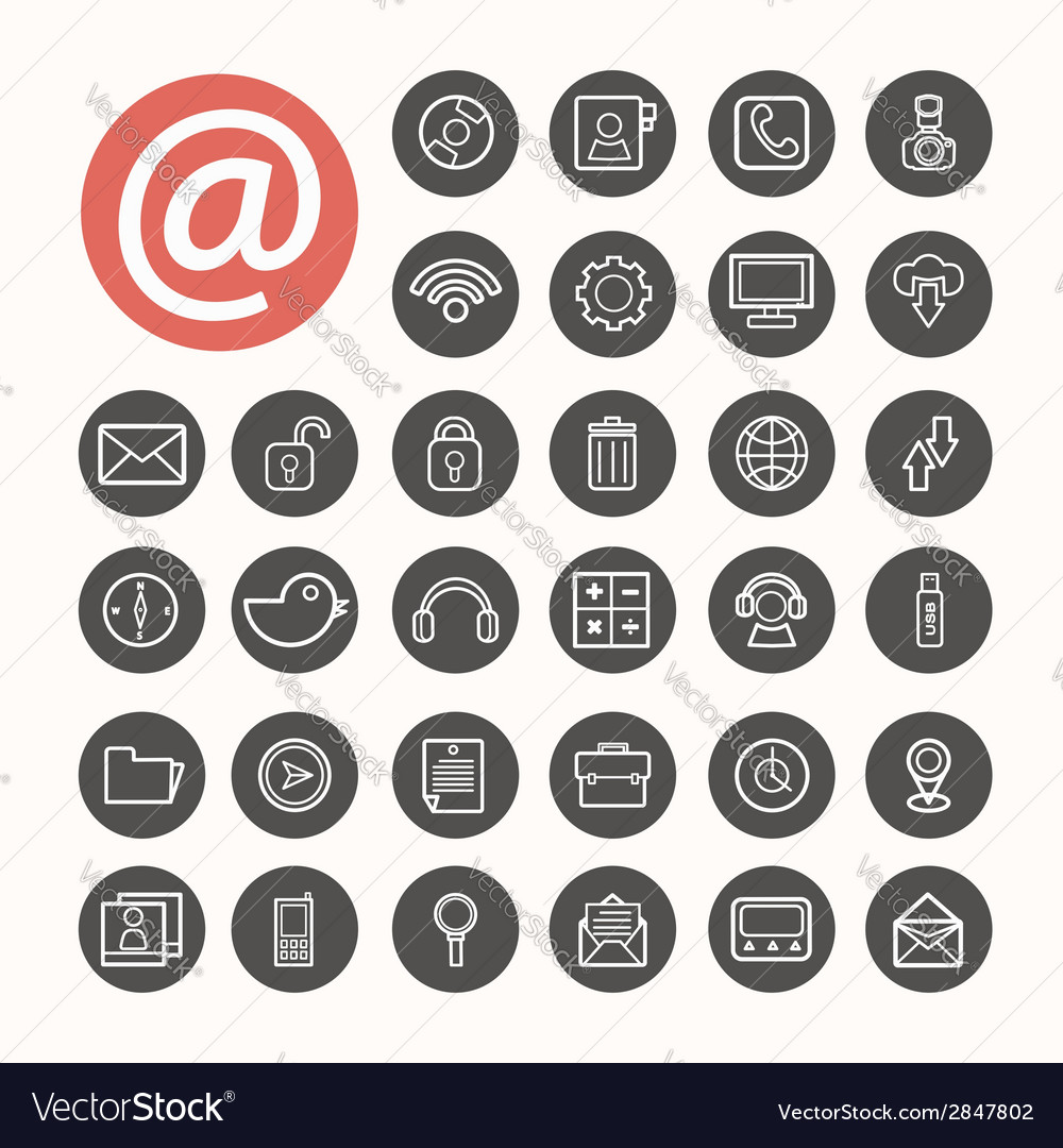 Mobile interface icons set eps10 vector | Price: 1 Credit (USD $1)