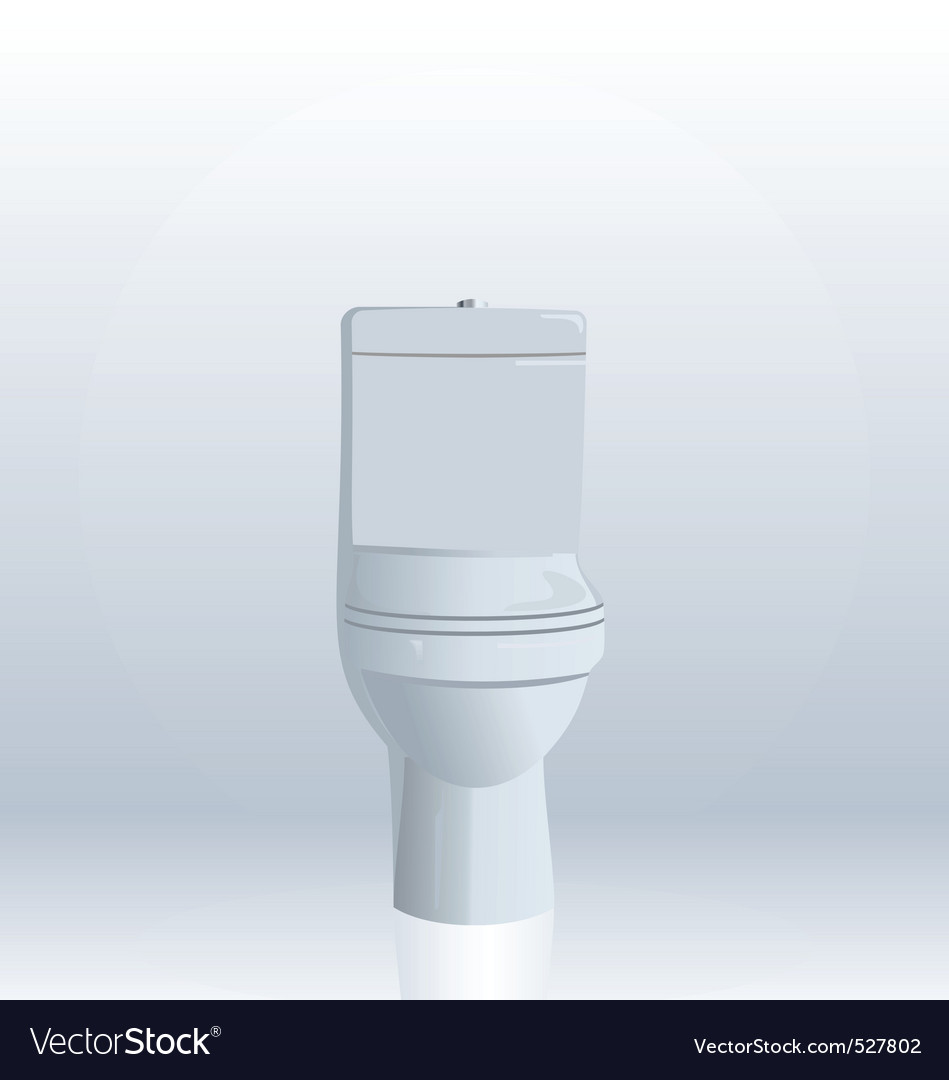 Realistic illustration of toilet bowl vector | Price: 1 Credit (USD $1)