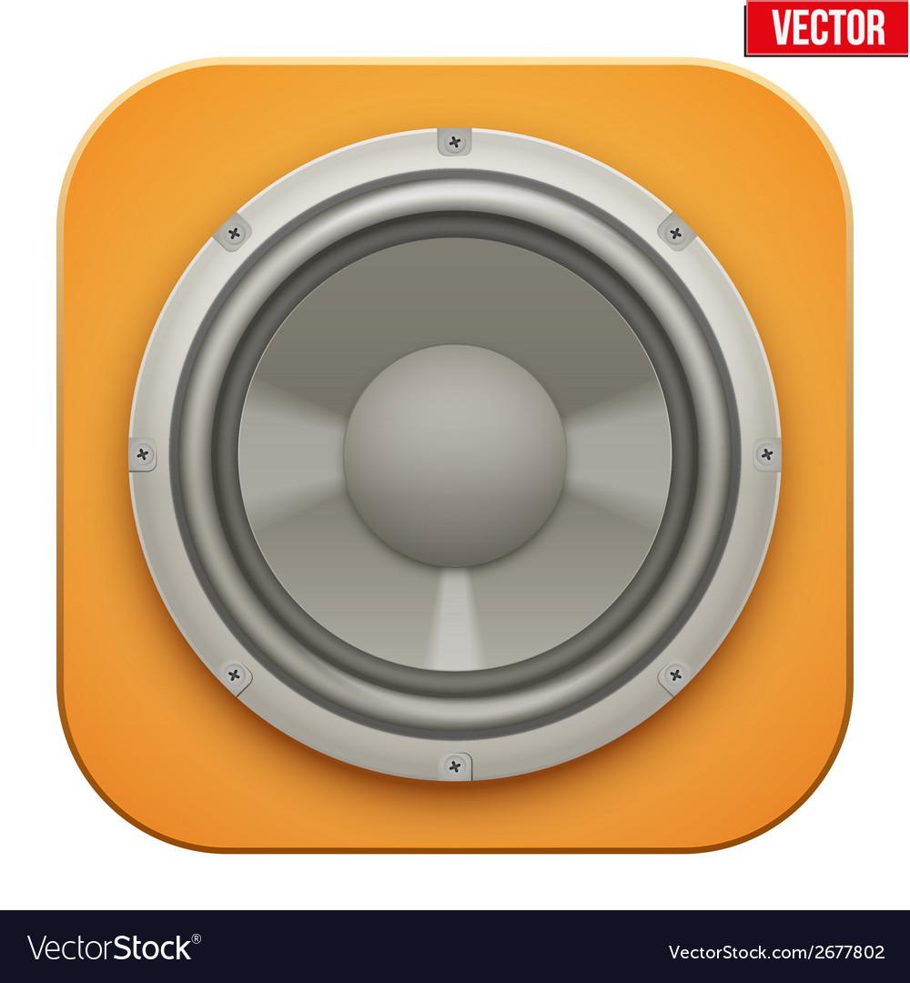 Realistic sound load speaker icon vector | Price: 1 Credit (USD $1)