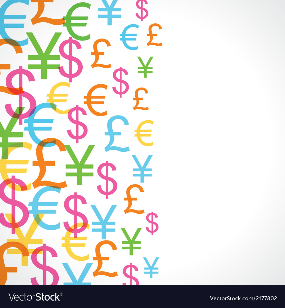 Seamless pattern background of currency signs vector | Price: 1 Credit (USD $1)