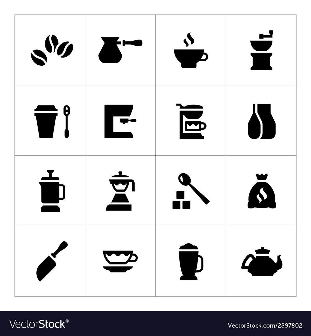 Set icons of coffee vector | Price: 1 Credit (USD $1)