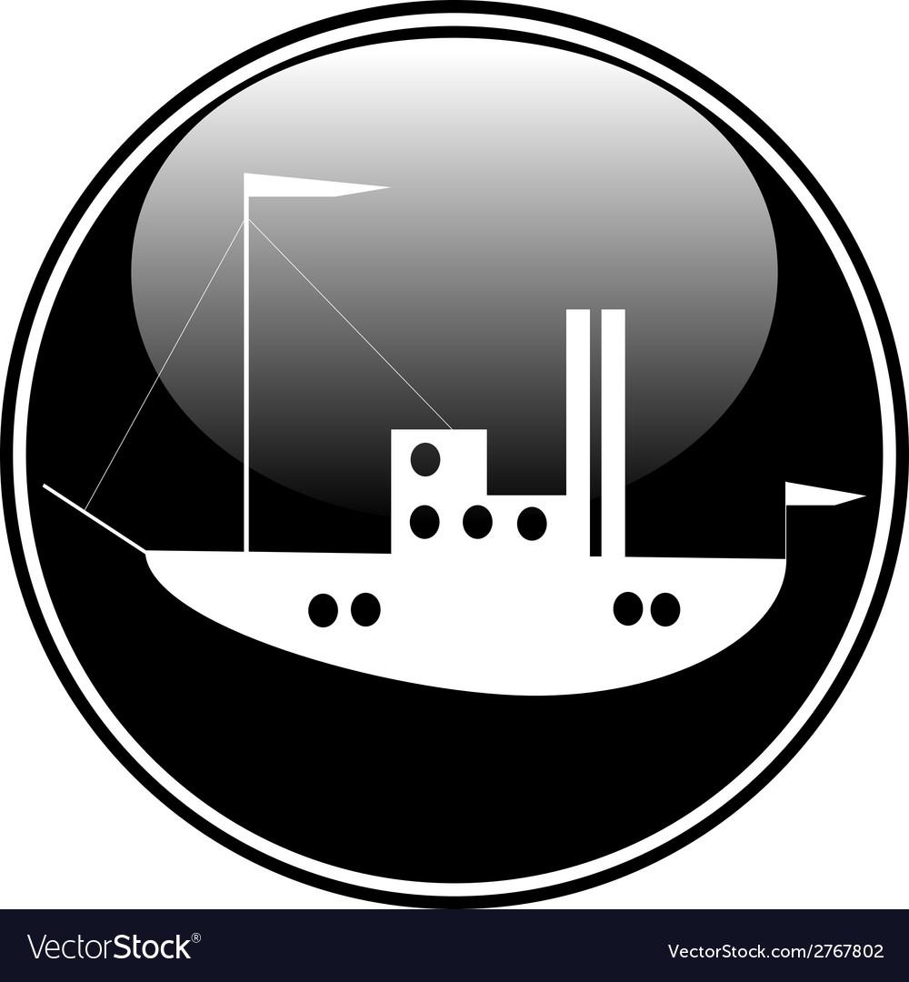 Ship button vector | Price: 1 Credit (USD $1)