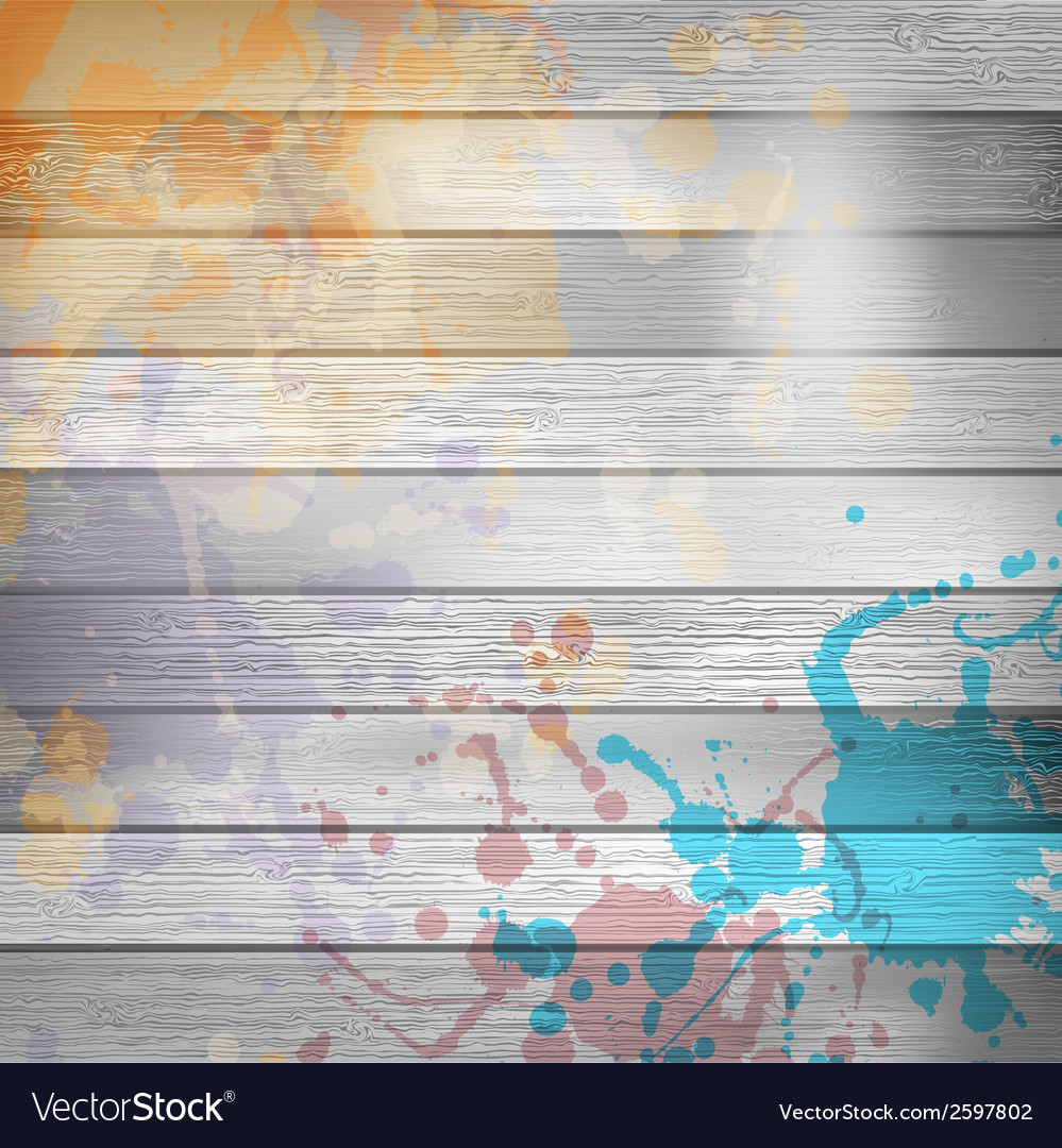Wooden with paint splashes template plus eps10 vector | Price: 1 Credit (USD $1)