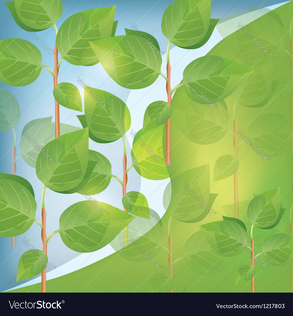 Abstract eco background with plant vector | Price: 1 Credit (USD $1)