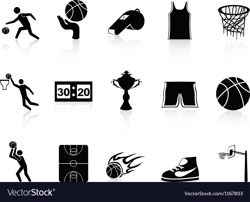 Basketball icons set vector | Price: 1 Credit (USD $1)