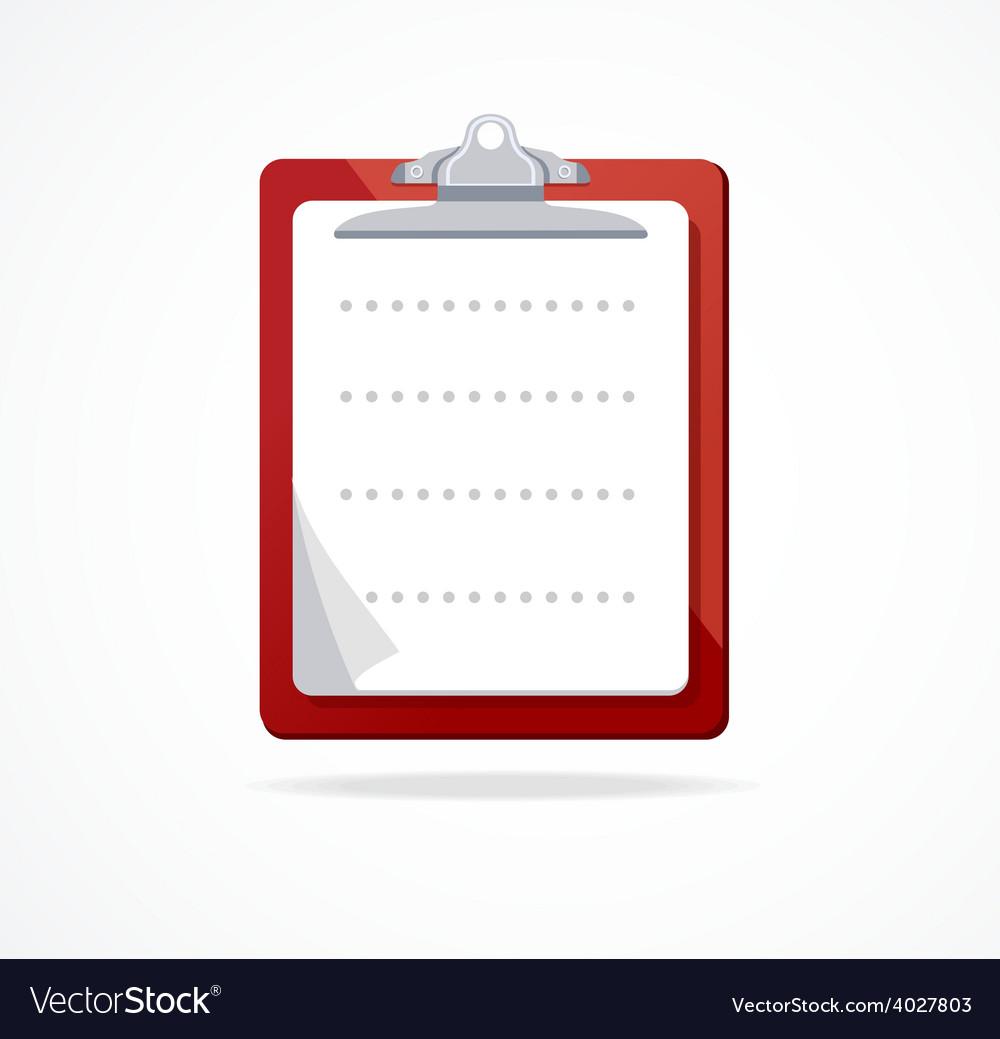 Clipboard icon flat design vector | Price: 1 Credit (USD $1)