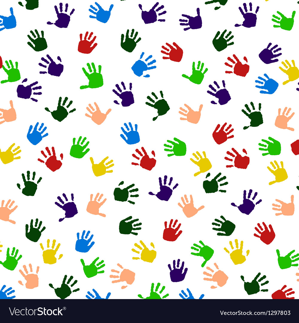 Colored hand print icon vector | Price: 1 Credit (USD $1)