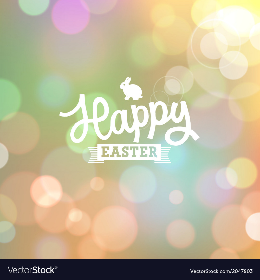 Easter colorful bokeh background vector | Price: 1 Credit (USD $1)