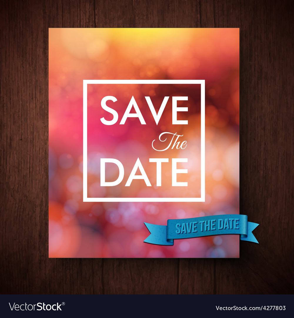 Eyecatching bold simple save the date template vector | Price: 1 Credit (USD $1)