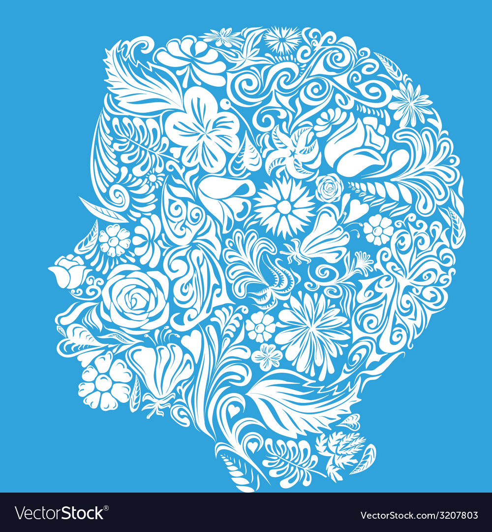 Floral child vector | Price: 1 Credit (USD $1)