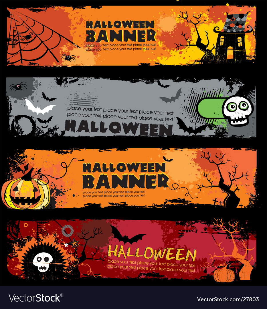 Halloween banners vector | Price: 3 Credit (USD $3)