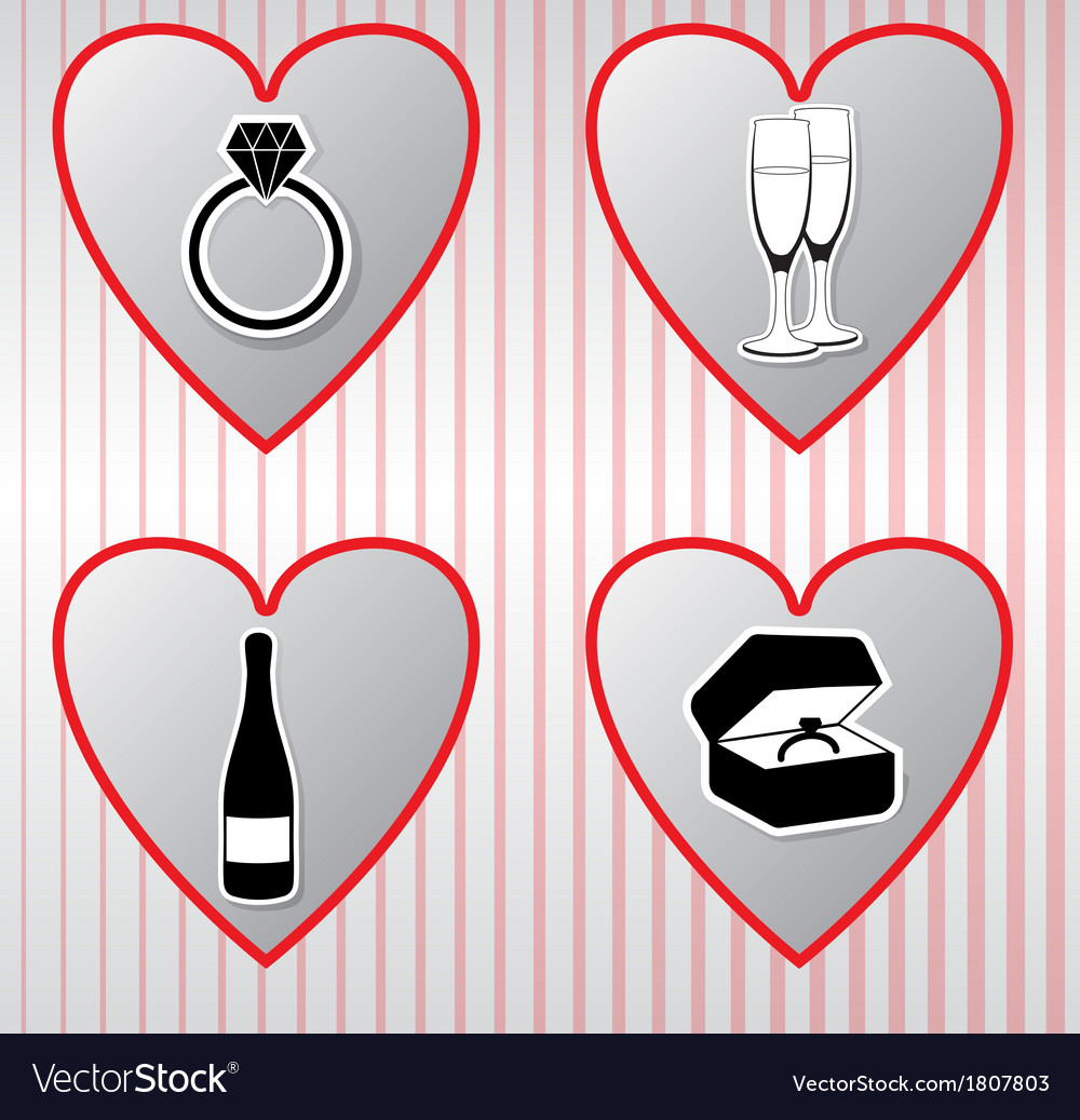 Hearts collection valentines day vector | Price: 1 Credit (USD $1)