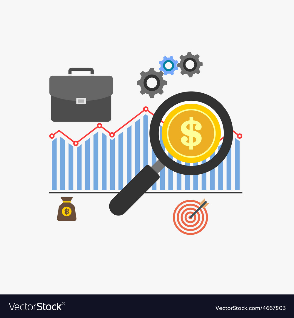 Market analysis vector | Price: 1 Credit (USD $1)