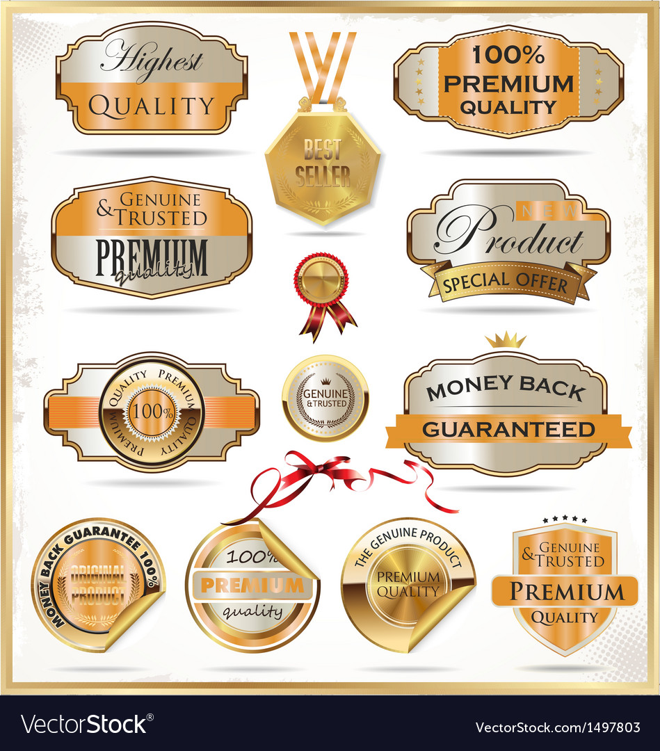 Premium quality labels vector | Price: 3 Credit (USD $3)