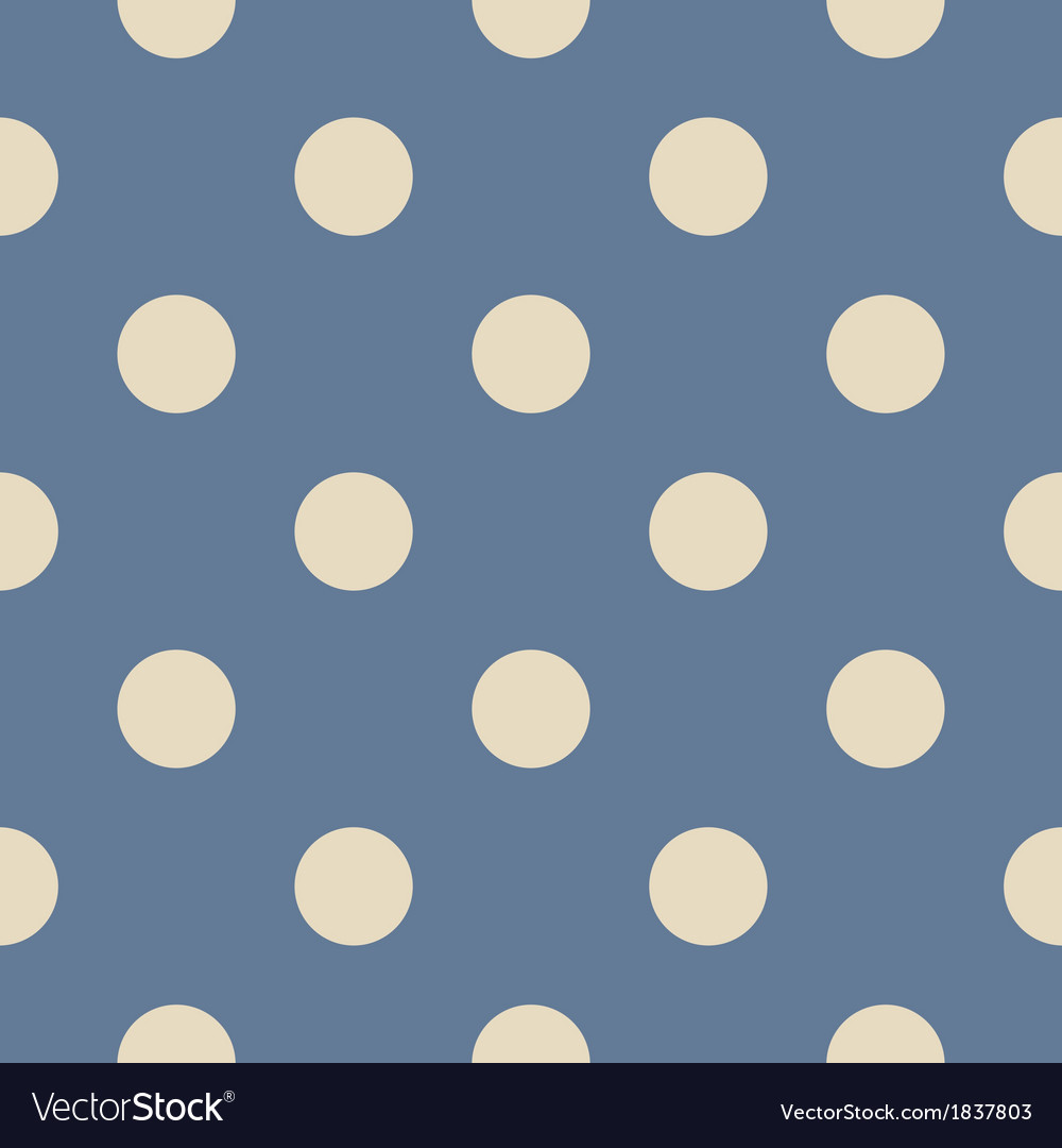 Seamless beige polka dots on blue background vector | Price: 1 Credit (USD $1)