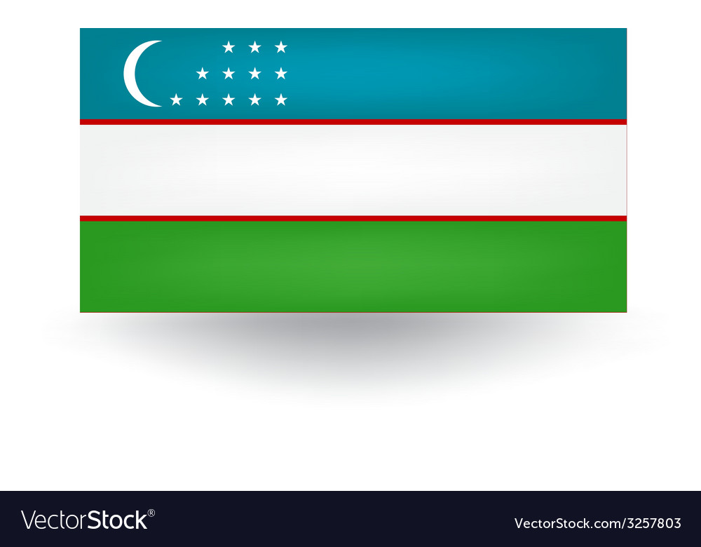 Uzbekistan flag vector | Price: 1 Credit (USD $1)