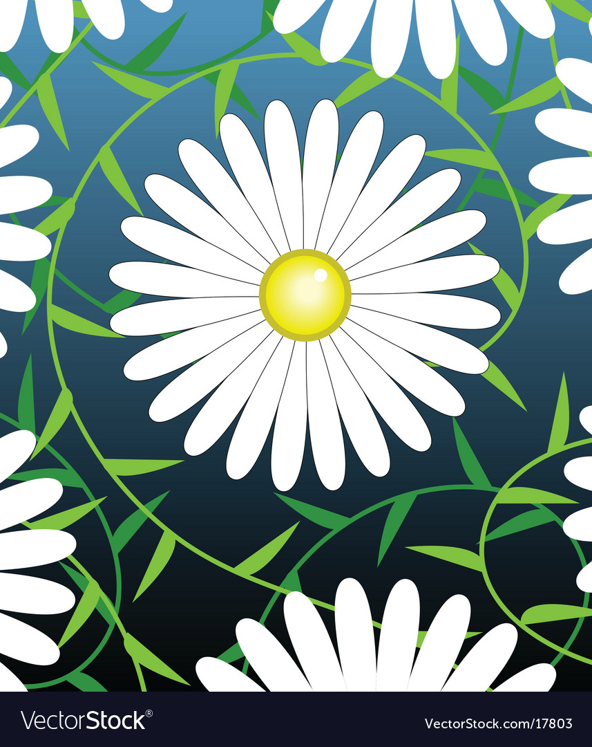 White flower vector | Price: 1 Credit (USD $1)