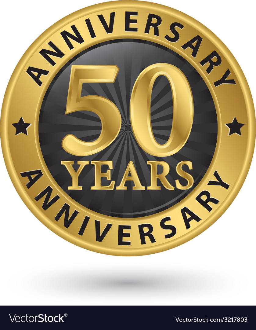 Years anniversary gold label vector