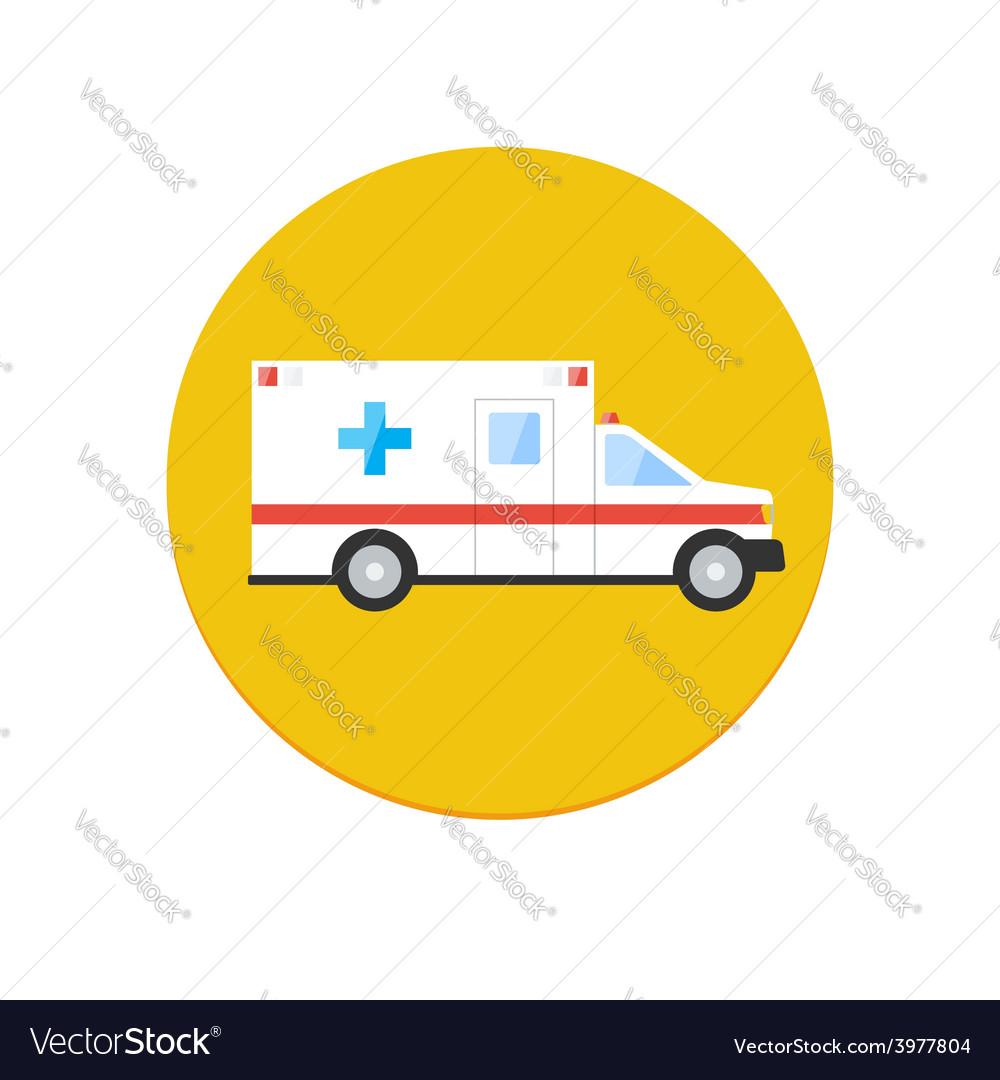Ambulance car icon vector | Price: 1 Credit (USD $1)