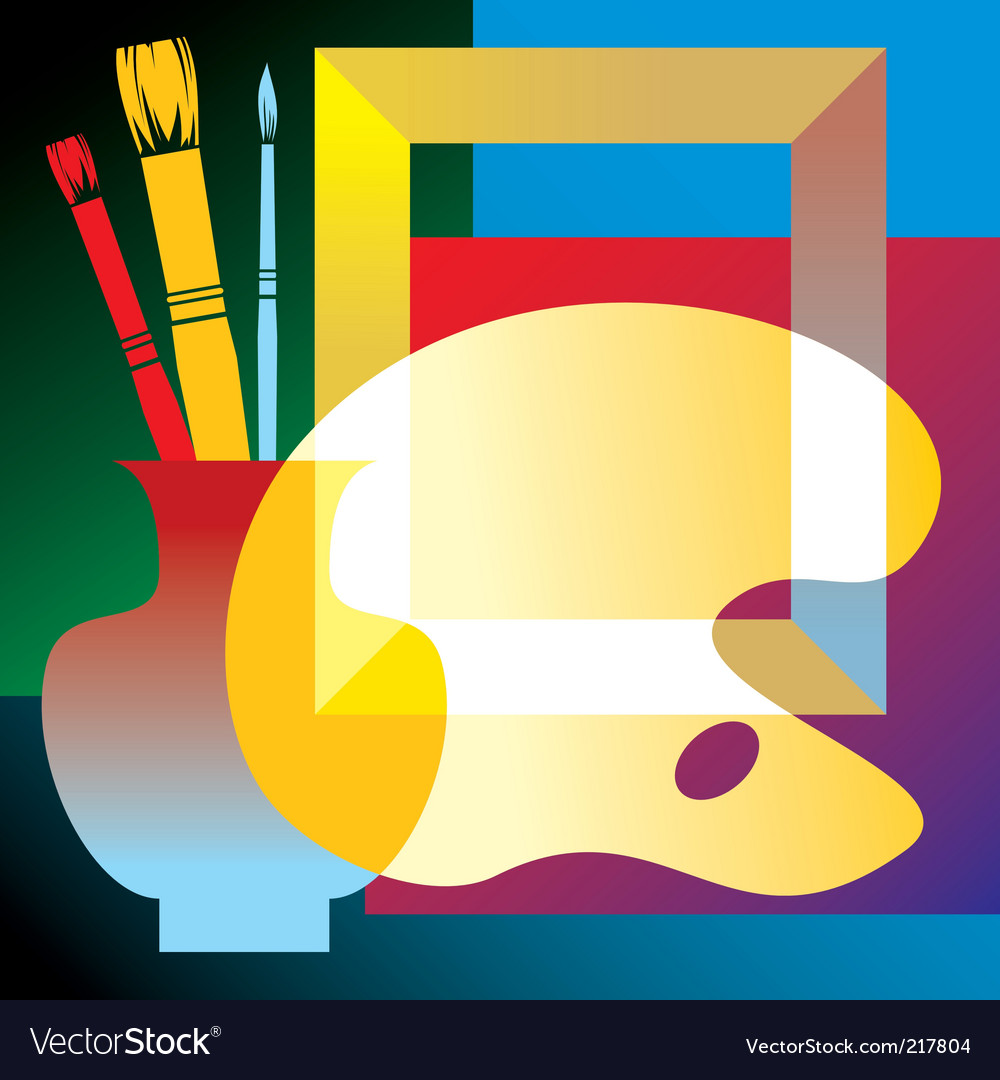 Artists attributes vector | Price: 1 Credit (USD $1)