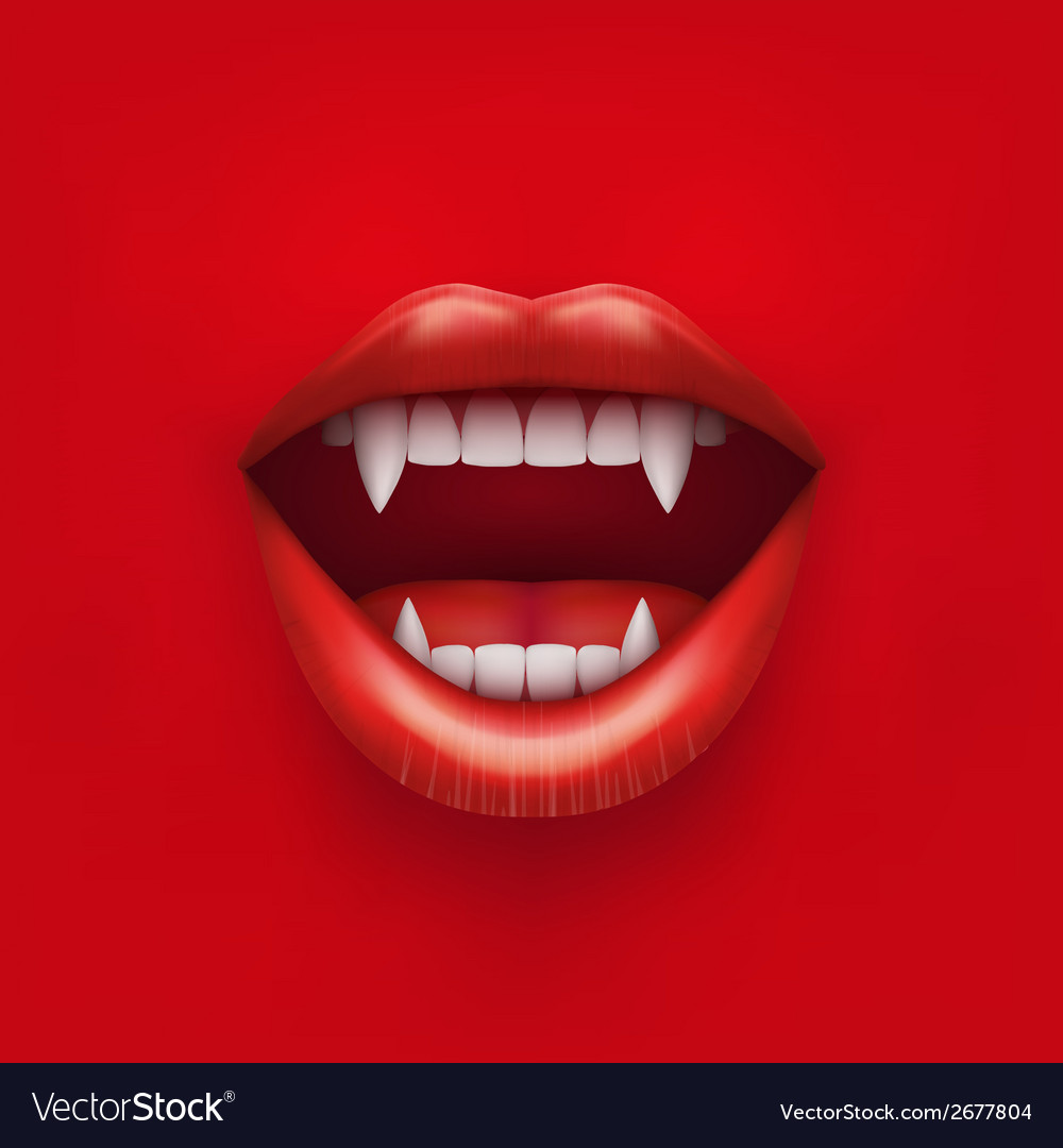 Background of vampire mouth with open lips vector | Price: 1 Credit (USD $1)