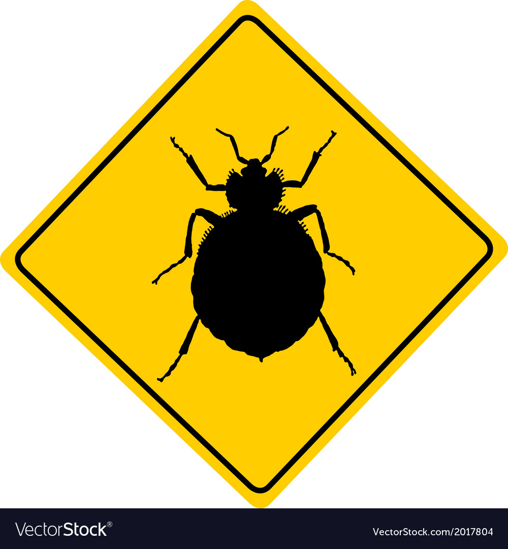 Bed bug warning sign vector | Price: 1 Credit (USD $1)