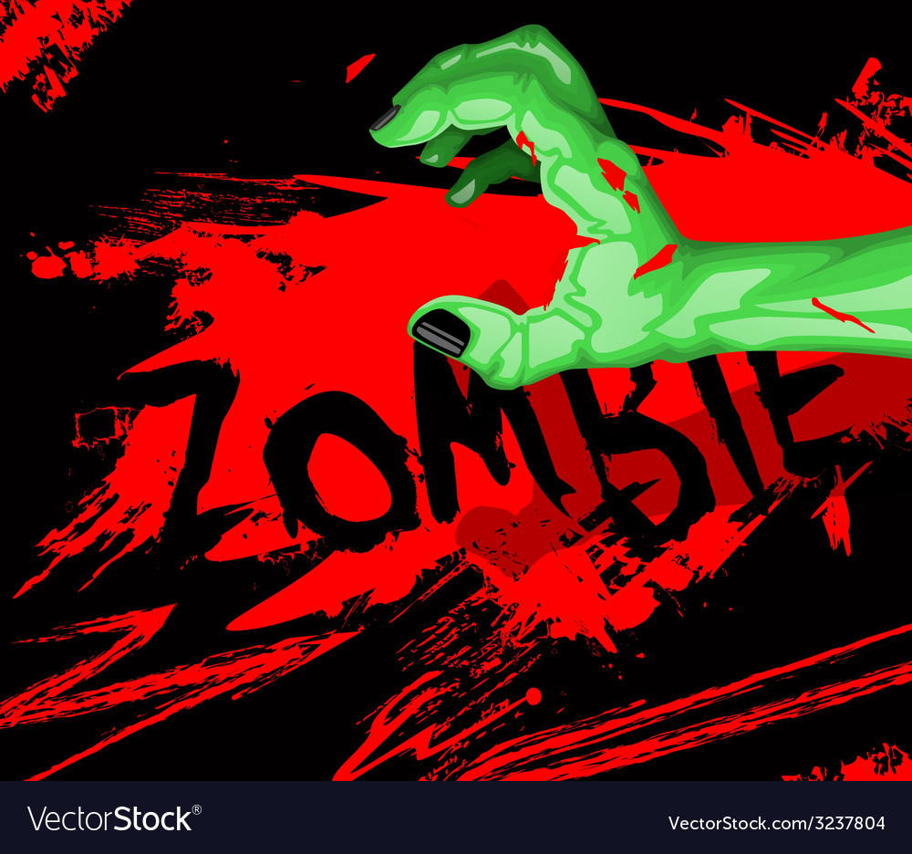 Cartoon of a zombie hand vector | Price: 1 Credit (USD $1)