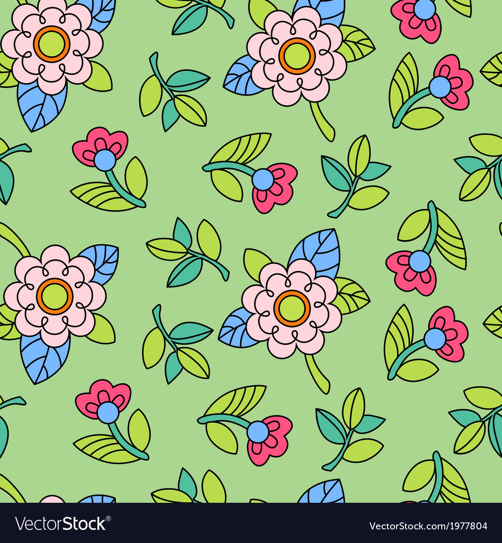 Colorful pattern with flower vector | Price: 1 Credit (USD $1)