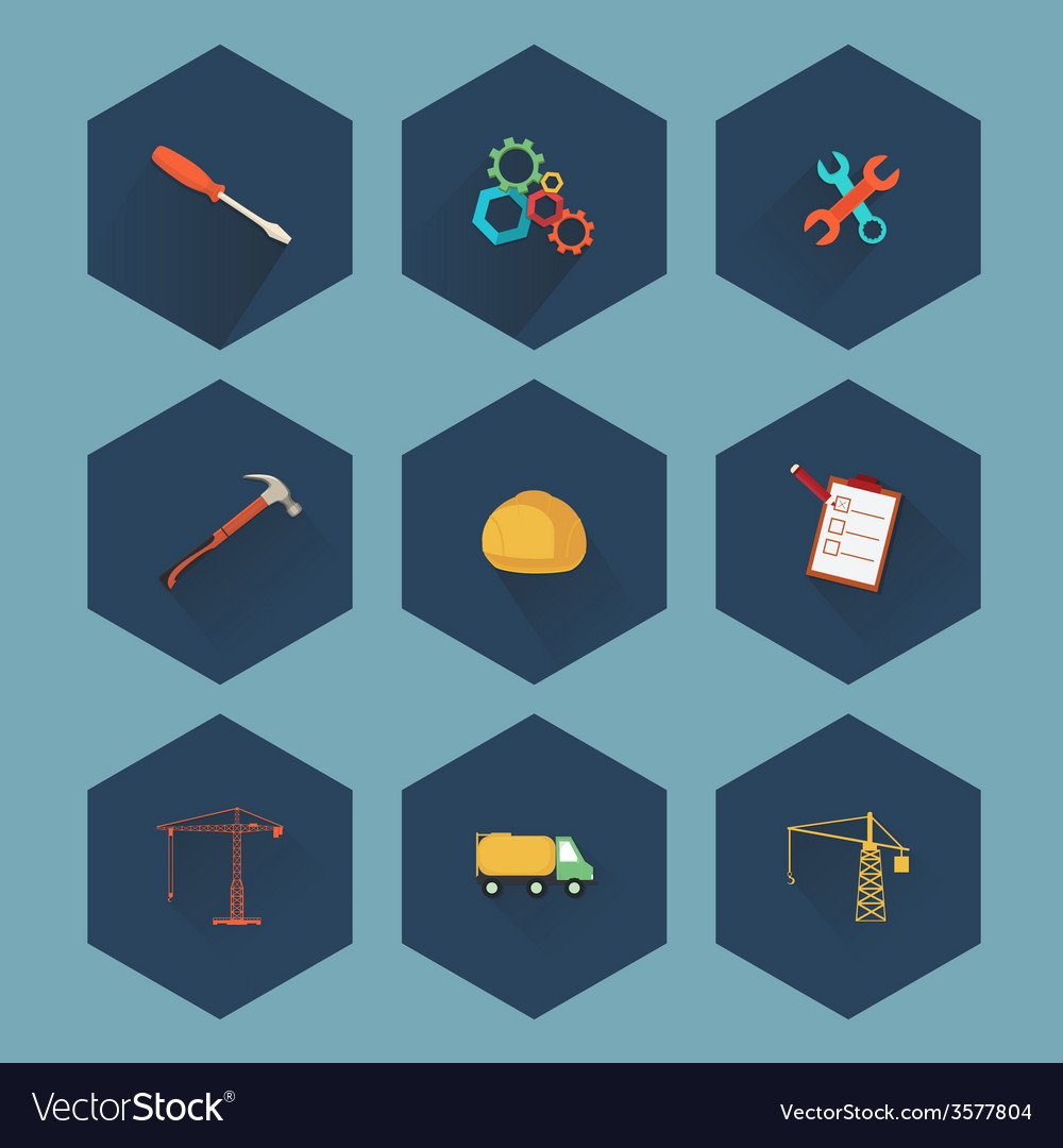 Construction and real estate icon set vector | Price: 1 Credit (USD $1)