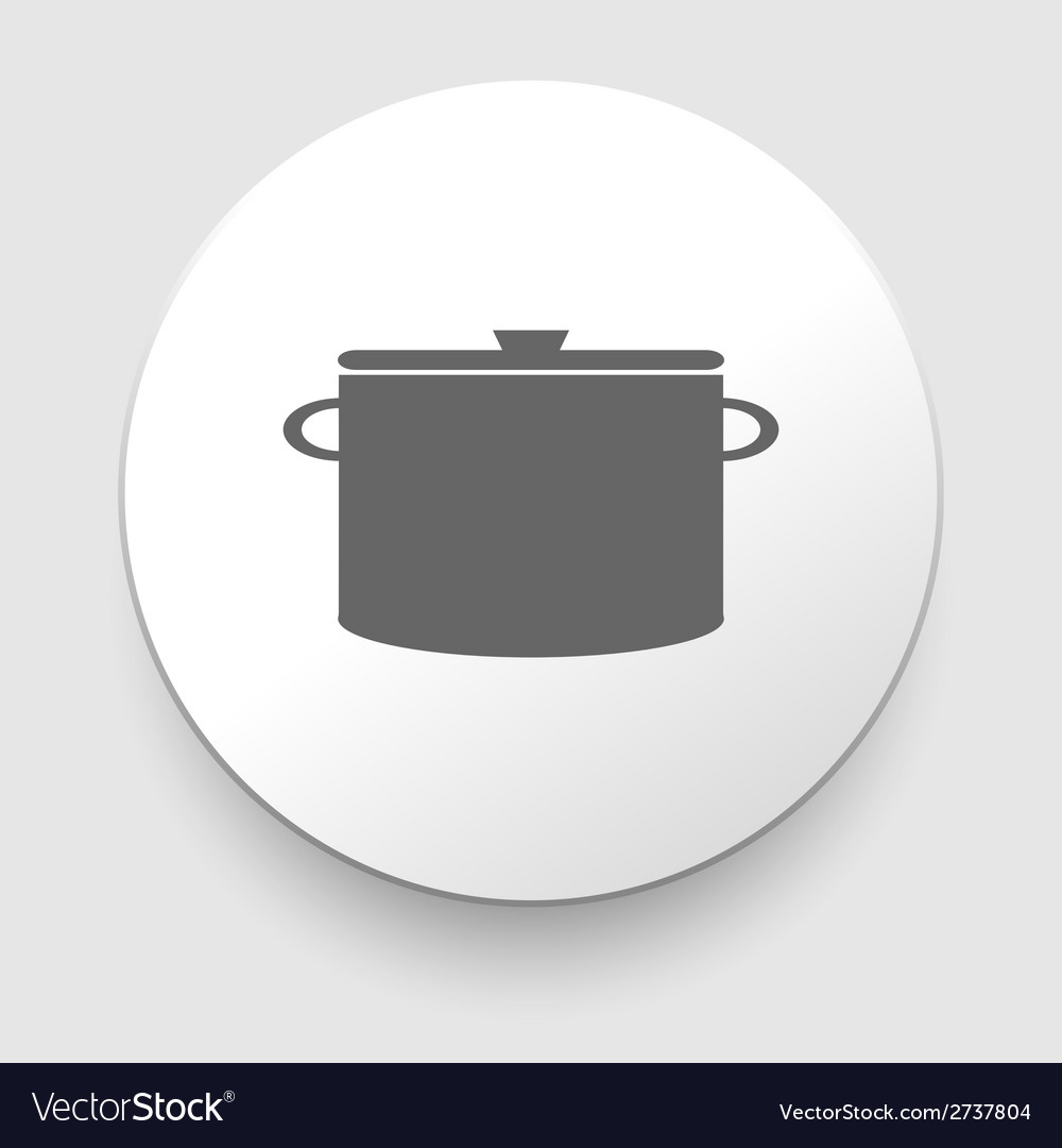 Cooking pan symbol sign or icon vector | Price: 1 Credit (USD $1)