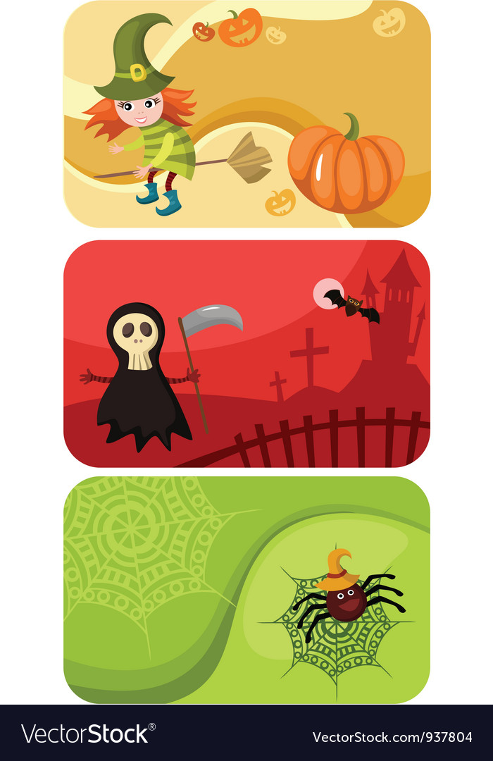 Halloween cards vector | Price: 3 Credit (USD $3)