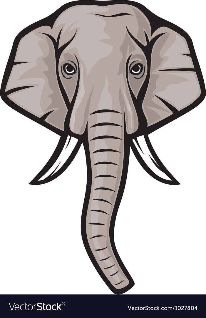 Indian elephant head vector | Price: 1 Credit (USD $1)