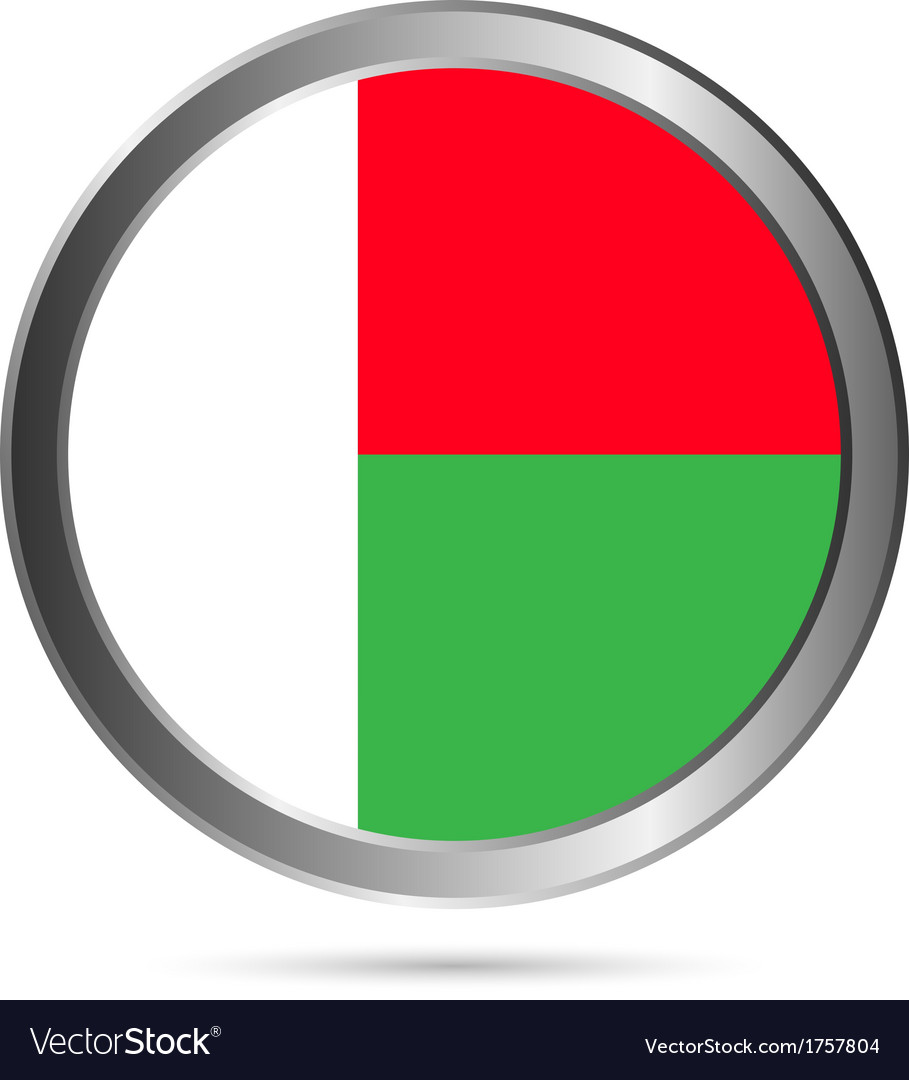 Madagascar flag button vector | Price: 1 Credit (USD $1)