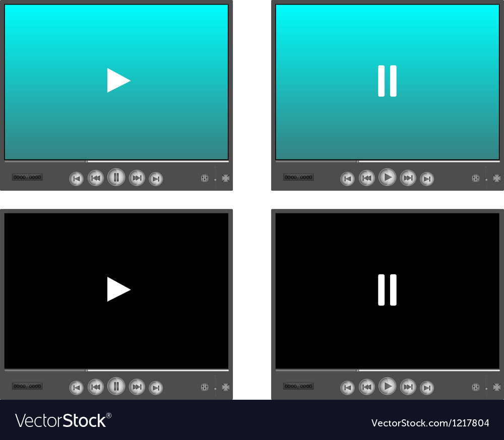 Media player skins vector | Price: 1 Credit (USD $1)