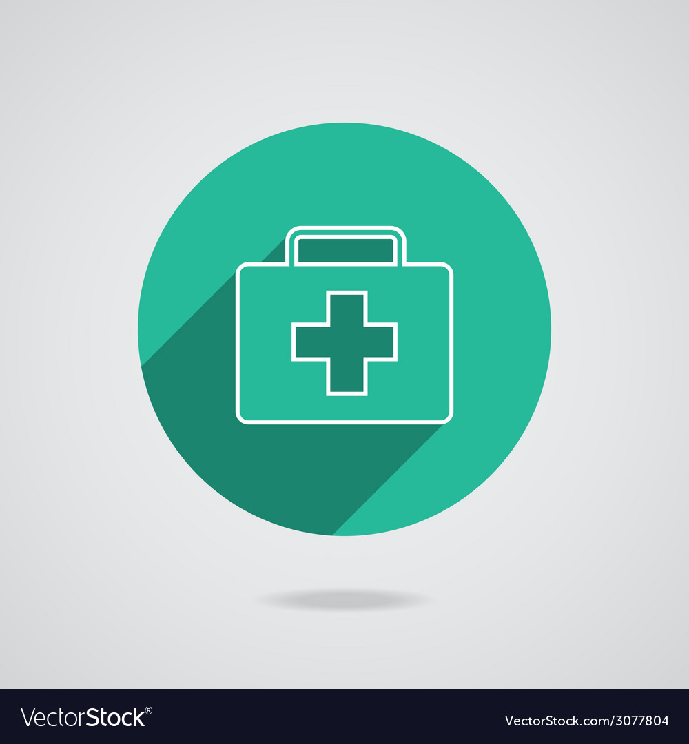 Medical white icon in line vector | Price: 1 Credit (USD $1)