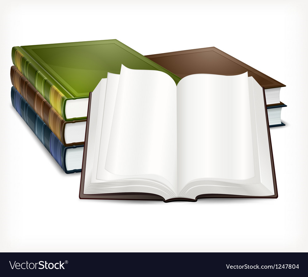 New books open on white vector | Price: 3 Credit (USD $3)