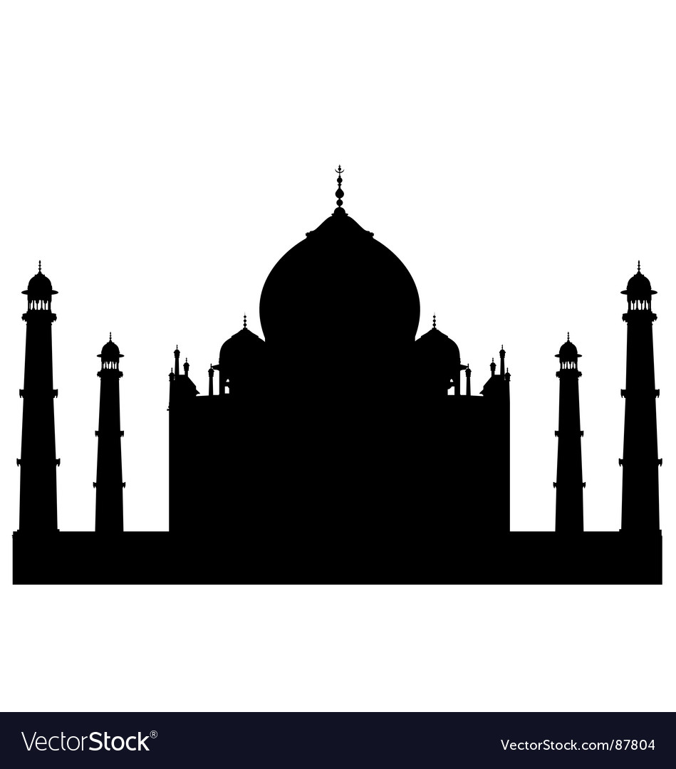Taj mahal silhouette vector | Price: 1 Credit (USD $1)