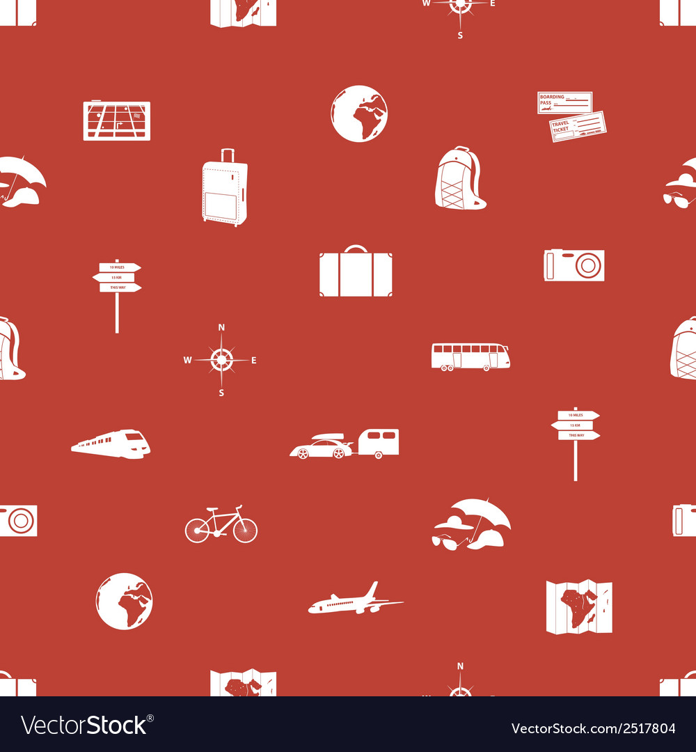Travelling icons pattern eps10 vector | Price: 1 Credit (USD $1)