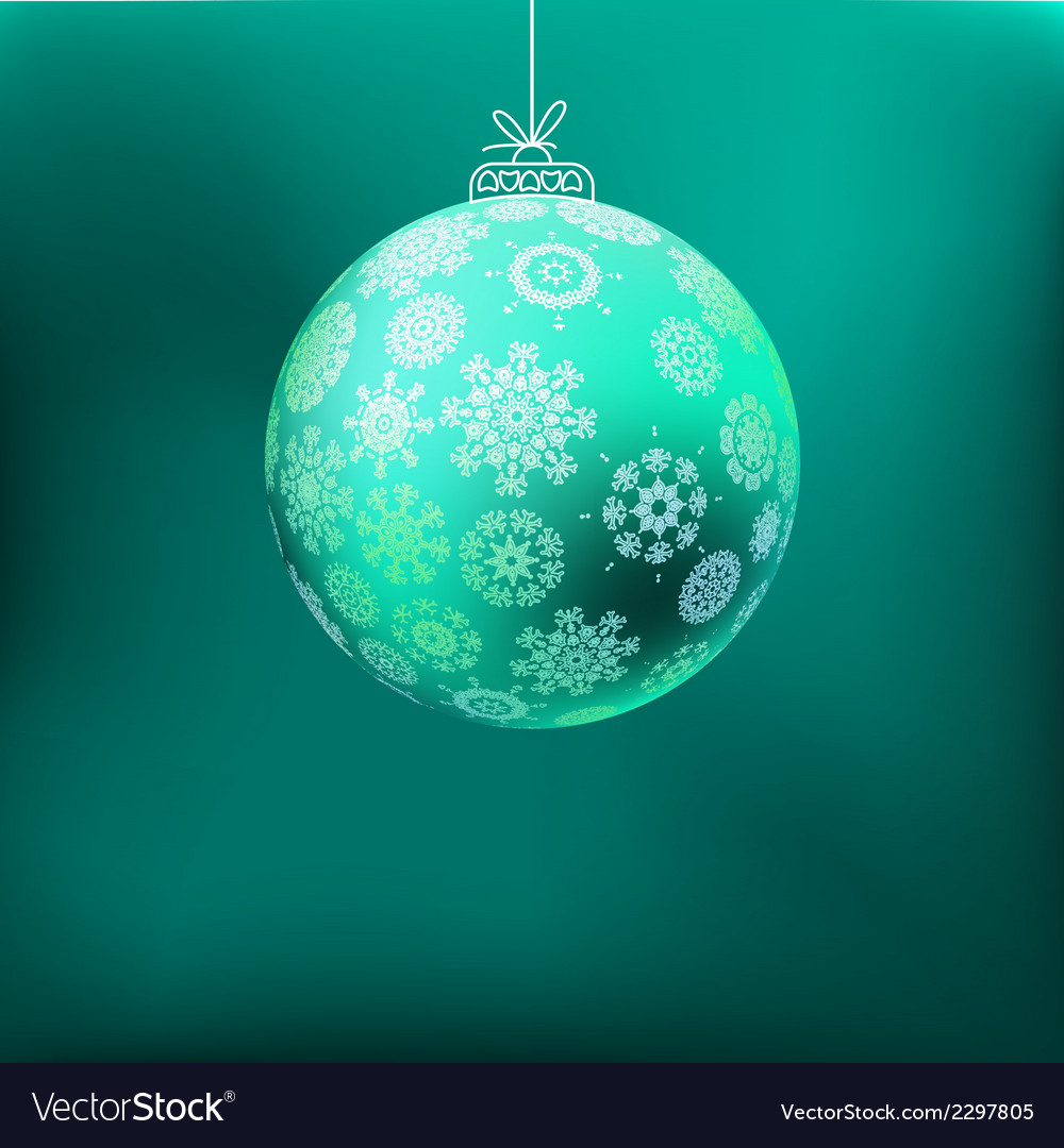 Christmas background with blue ball  eps8 vector | Price: 1 Credit (USD $1)