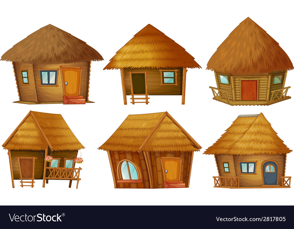 Cottage set vector | Price: 1 Credit (USD $1)