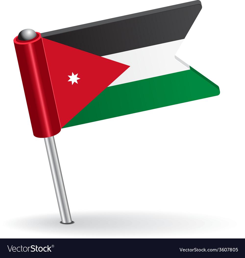 Jordan pin icon flag vector | Price: 1 Credit (USD $1)