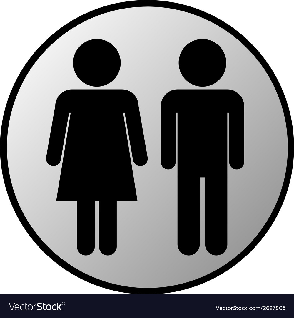 Male and female button vector | Price: 1 Credit (USD $1)