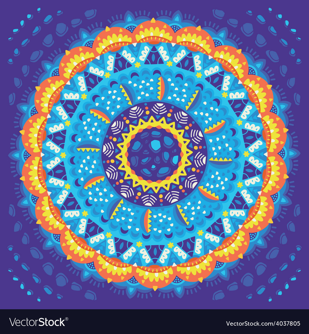 Mandala round ornament vector | Price: 1 Credit (USD $1)