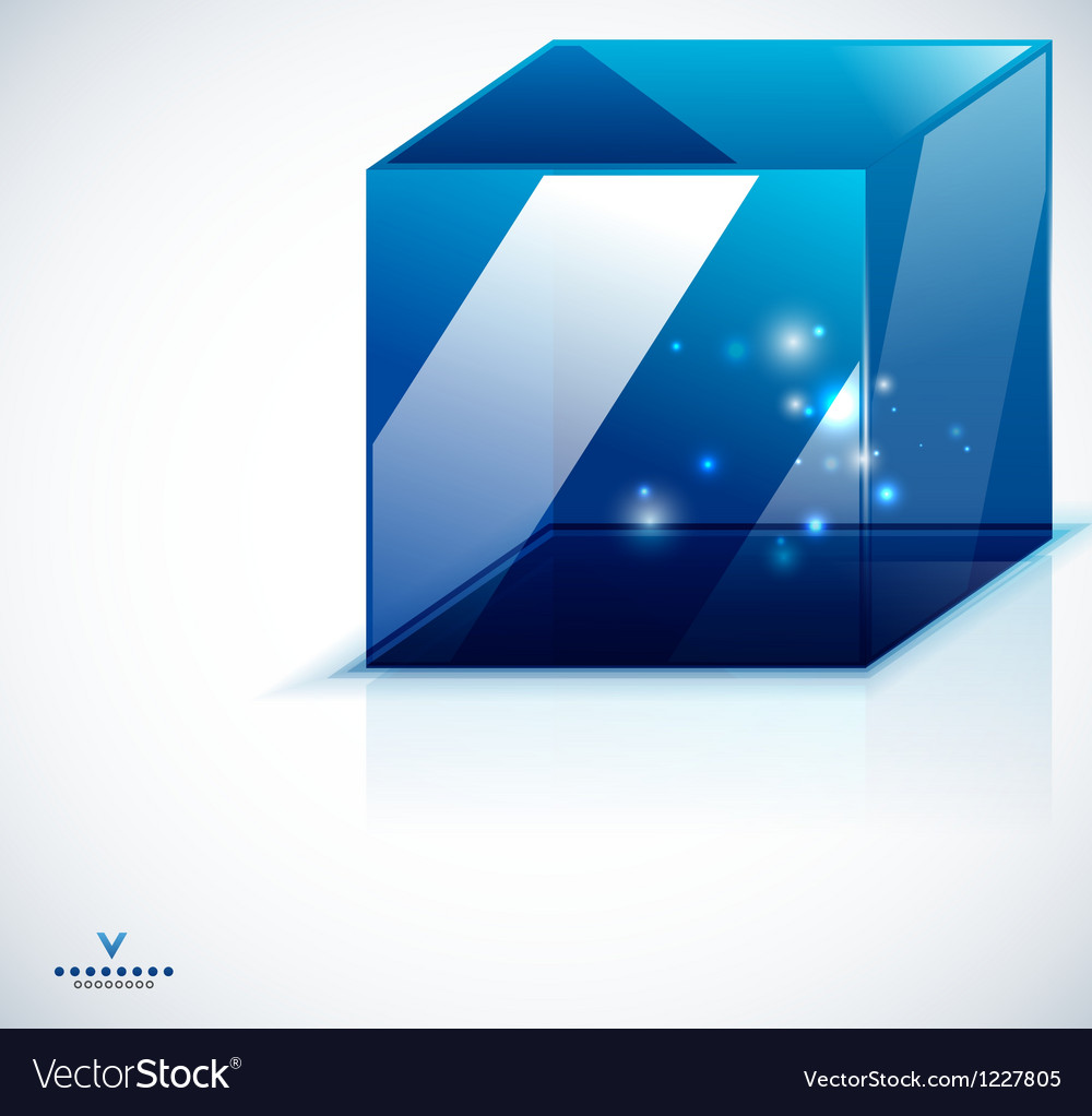 Modern 3d glass cube design template vector | Price: 1 Credit (USD $1)