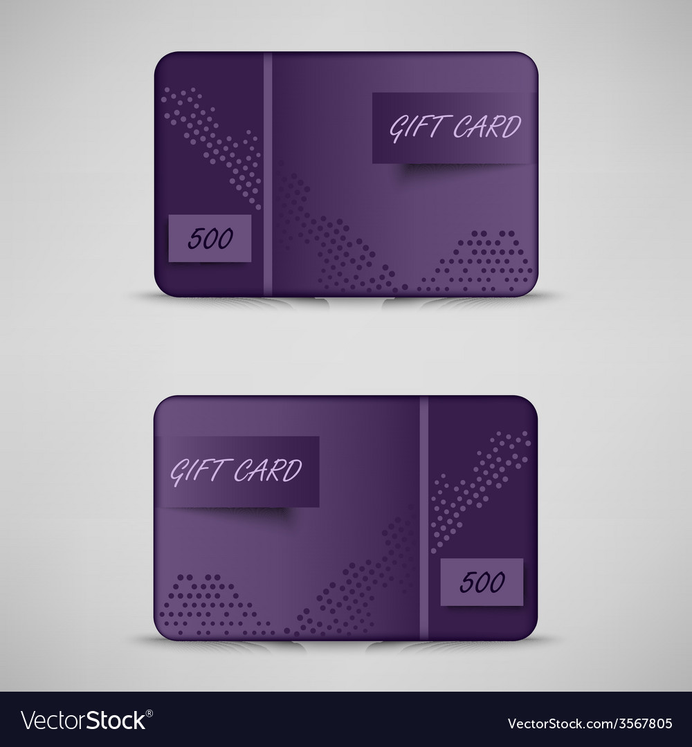 Modern violet gift card template vector | Price: 1 Credit (USD $1)