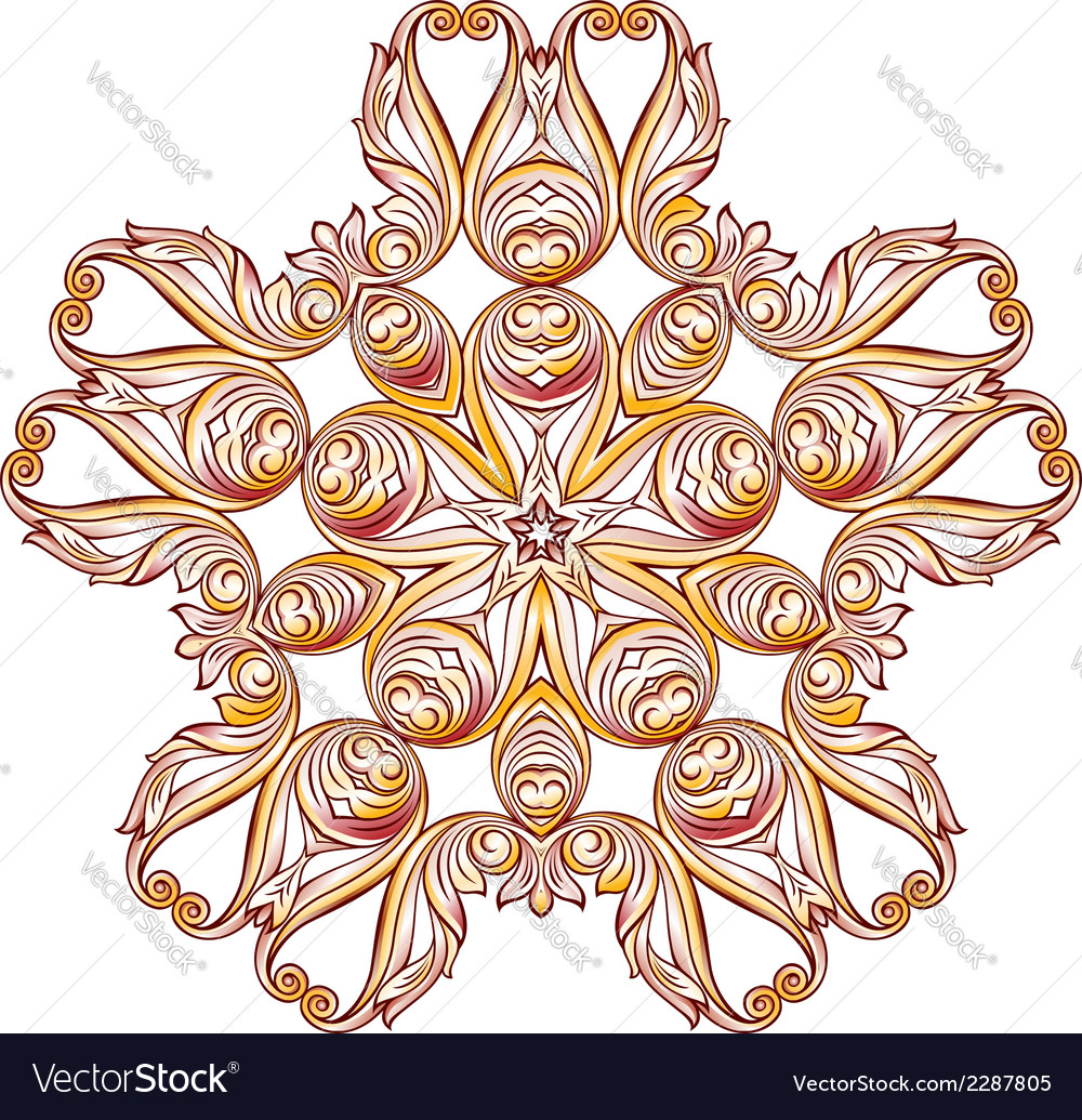 Ornate floral pattern on white vector | Price: 1 Credit (USD $1)